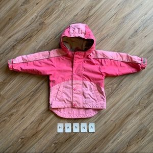 HANNA ANDERSSON Snow Jacket Pink Girls 4 Hooded